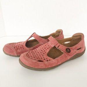 Earth Origins Swirl Suede Laser-cut MaryJane Shoes